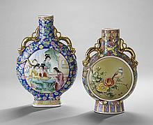 Two Chinese Export Flask-Form Vessels