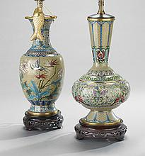 Two Chinese Cloisonne Vases