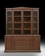George III-Style Mahogany Breakfront Bookcase