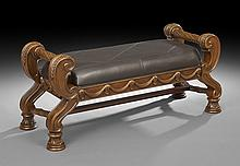 Neoclassically Inspired Mahoganized Bench