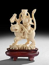 Chinese Carved Ivory Figure of an Immortal
