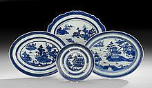 Four Pieces of Chinese Export Nanking Porcelain