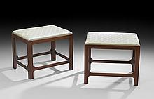 Pair of American Chippendale-Style Footstools