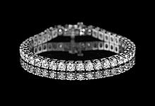 14 Kt. White Gold and Diamond Tennis Bracelet