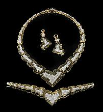 3-Piece H. Stern 18 Kt. Gold and Diamond Suite