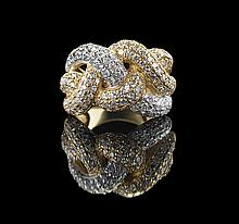 14 Kt. Yellow/White Gold and Diamond Ring