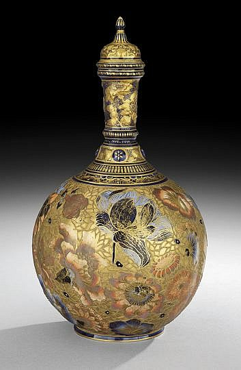 Exceptional Royal Crown Derby Lidded Bottle Vase
