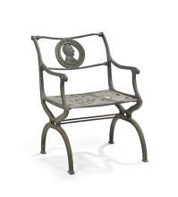 Commemorative Cast Iron Garden Armchair