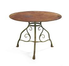 Arras Wrought and Cast Iron Garden Table