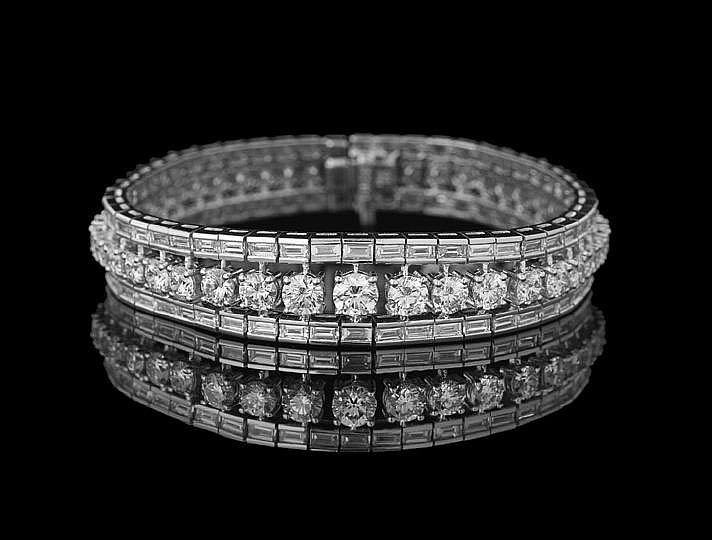Platinum and Diamond Custom-Made Bracelet