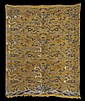Chinese Yellow Embroidered Silk Dragon Panel