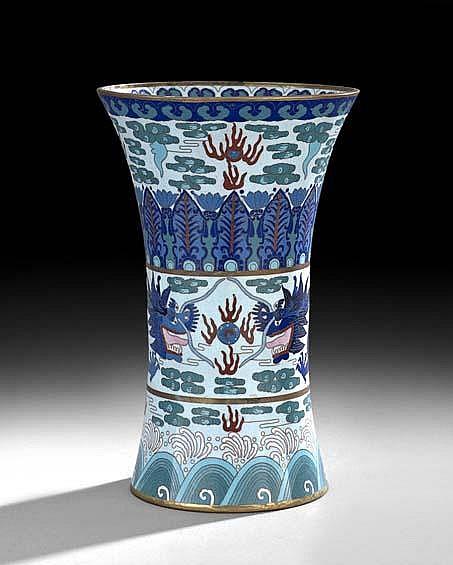 Chinese Cloisonne Beaker-Form Vase