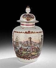 Hand-Painted Porcelain Ginger Jar