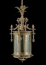 French Beaux-Arts Bronze Hall Lantern