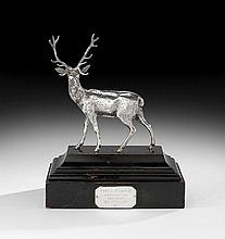 Edwardian Sterling Silver Figure of a Stag
