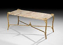 P. E. Guerin Bronze and Granite Drinks Table
