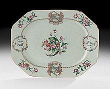 Chinese Export Qianlong Armorial Platter
