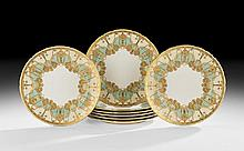 Set of Eight Royal Crown Derby Dinner Plates