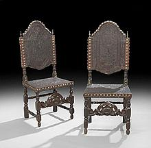 Pair of Iberian-Style Leather Sidechairs