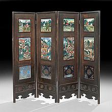 Chinese Four-Panel Folding Screen