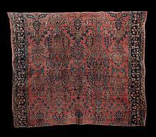 Wool and Silk Sarouk Carpet Fragment