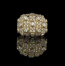 18 Kt. Yellow Gold and Diamond Custom-Made Ring