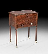 American Classical Work Table or Sugar Chest