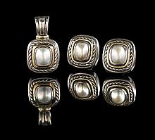 David Yurman Silver, Gold & Mabe Pearl Suite