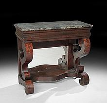 American Late Classical Marble-Top Pier Table