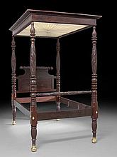 American Late Classical Four-Post Canopy Bed