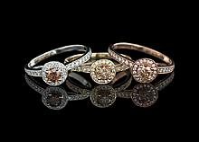 Three Le Vian Multi-Color Gold and Diamond Rings