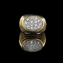 14 Kt. Yellow Gold and Diamond Ring