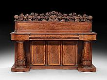 Rare American Late Classical Mahogany Sideboard