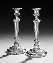 Pair of Regency Sterling Silver Candlesticks