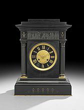 Napoleon III Marble and Bronze Clock