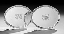 Good Pair of George III Sterling Silver Waiters
