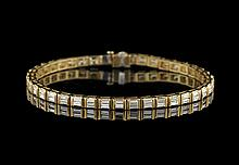 18 Kt. Yellow Gold and Diamond Bracelet