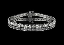 14 Kt. White Gold and Diamond Tennis Bracelet