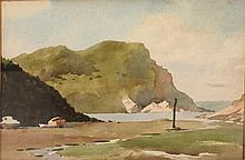 """John Minton (1917-1957) British. """"Cardigan, Wales"""""""