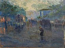 Elie Anatole Pavil (1873-1948) French. A Paris Str