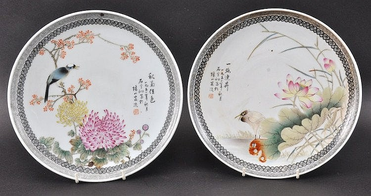 A PAIR OF MID 20TH CENTURY CHINESE PORCELAIN