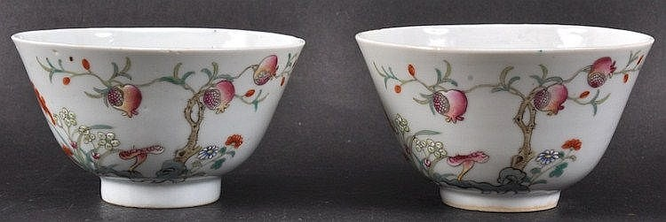 A PAIR OF CHINESE PORCELAIN ENAMELLED TEABOWLS