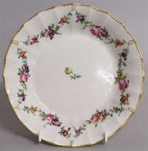 AN 18TH CENTURY GOOD CHELSEA DERBY SAUCER DISH pai