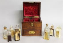 A GOOD 19TH CENTURY APOTHECARY MAHOGANY CASED CASK