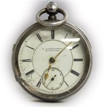 A SILVER VERGE POCKET WATCH by H. LICHTENSTEIN, th
