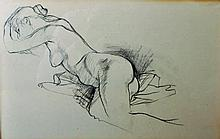 20th Century English School. Study of a Reclining