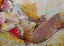 Elyse Parkin (20th Century) British. A Reclining N