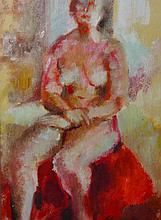 Elyse Parkin (20th Century) British. A Seated Nude