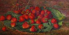H... E... Ward (19th Century) British. Strawberries on