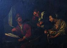 18th Century Dutch School. Interior Scene with Fig